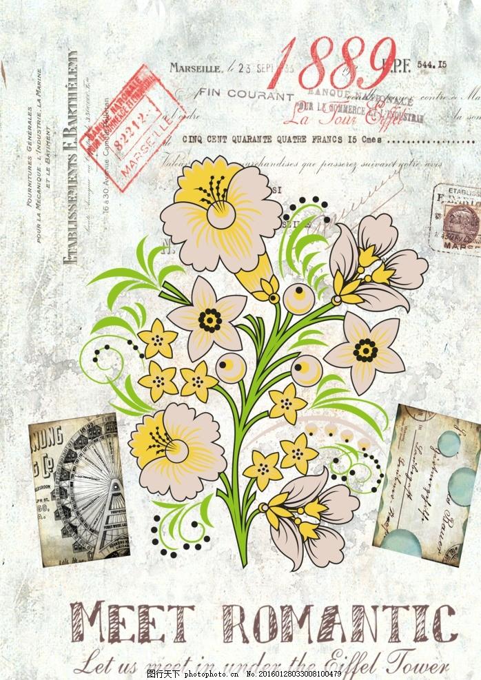 欧式手绘花卉装饰画 欧美风 欧美风格 欧式 古典 无框画 古典装饰画