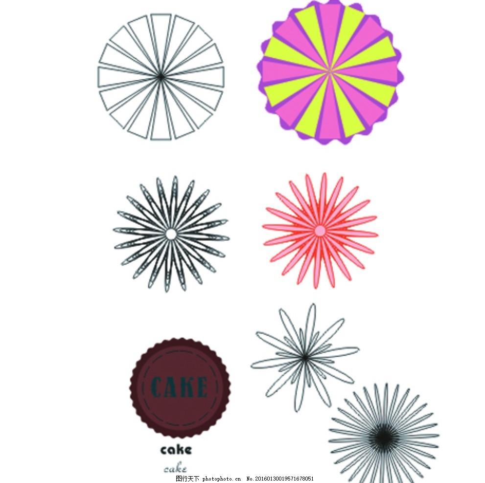 设计图库 文化艺术 其他  图形 矢量图 线条 图 花形 轮廓 简单