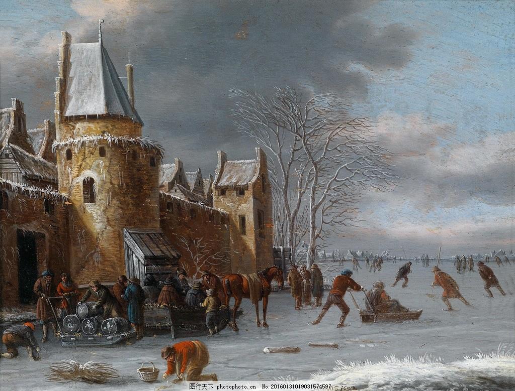 名画 艺术品 欧式绘画 绘画书法 文化艺术 设计 300dpi jpg 风景油画