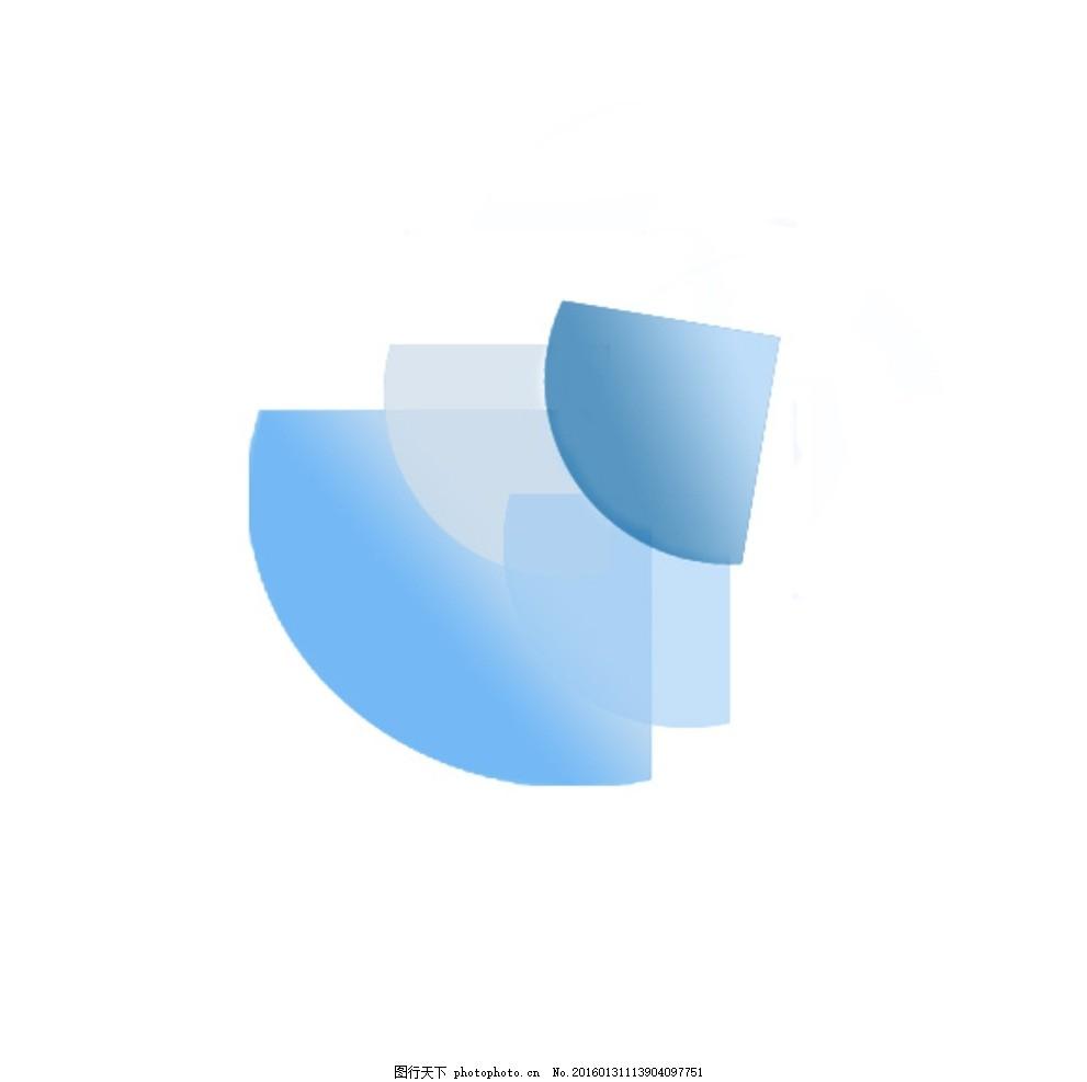 扇形图形渐变 扇形 图形 渐变 蓝色 几何 创意 简洁 设计 标志图标 其