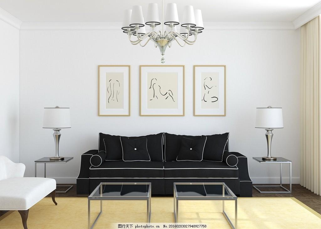 炫酷客厅 唯美 炫酷 家居 家具      木地板 黑沙发 设计 环境设计 室
