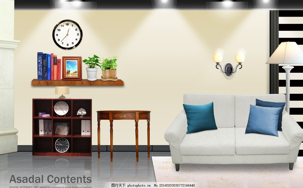 室内装饰 装修 灯光 家居 效果图 背景 室内广告设计