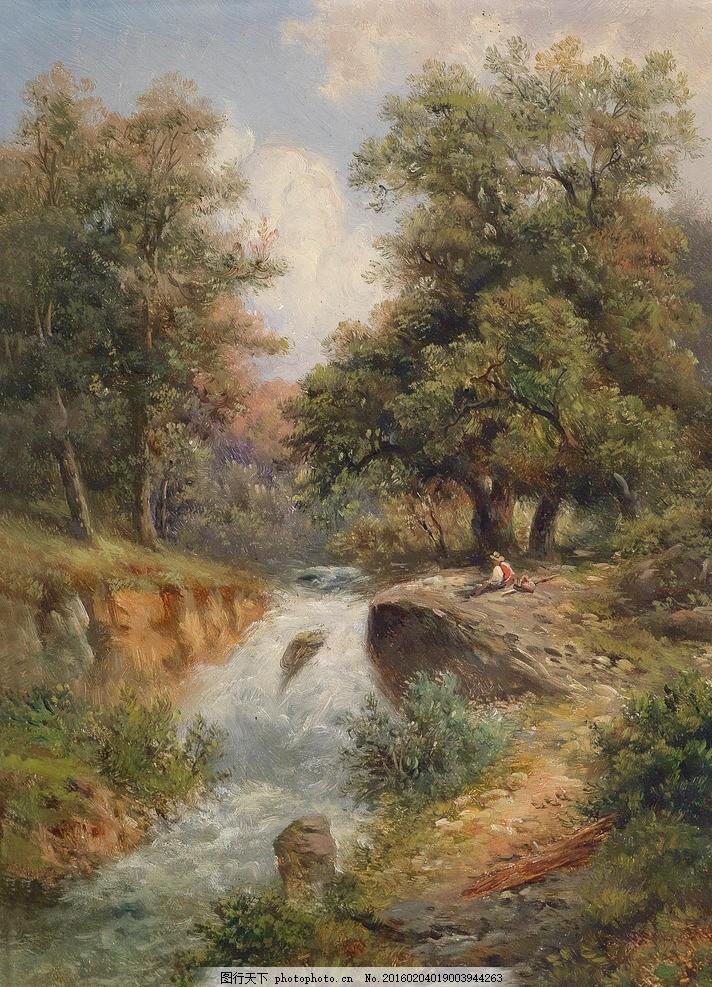 欧式油画 装饰画 油画风景 风景油画 欧式风景油画 欧式油画风