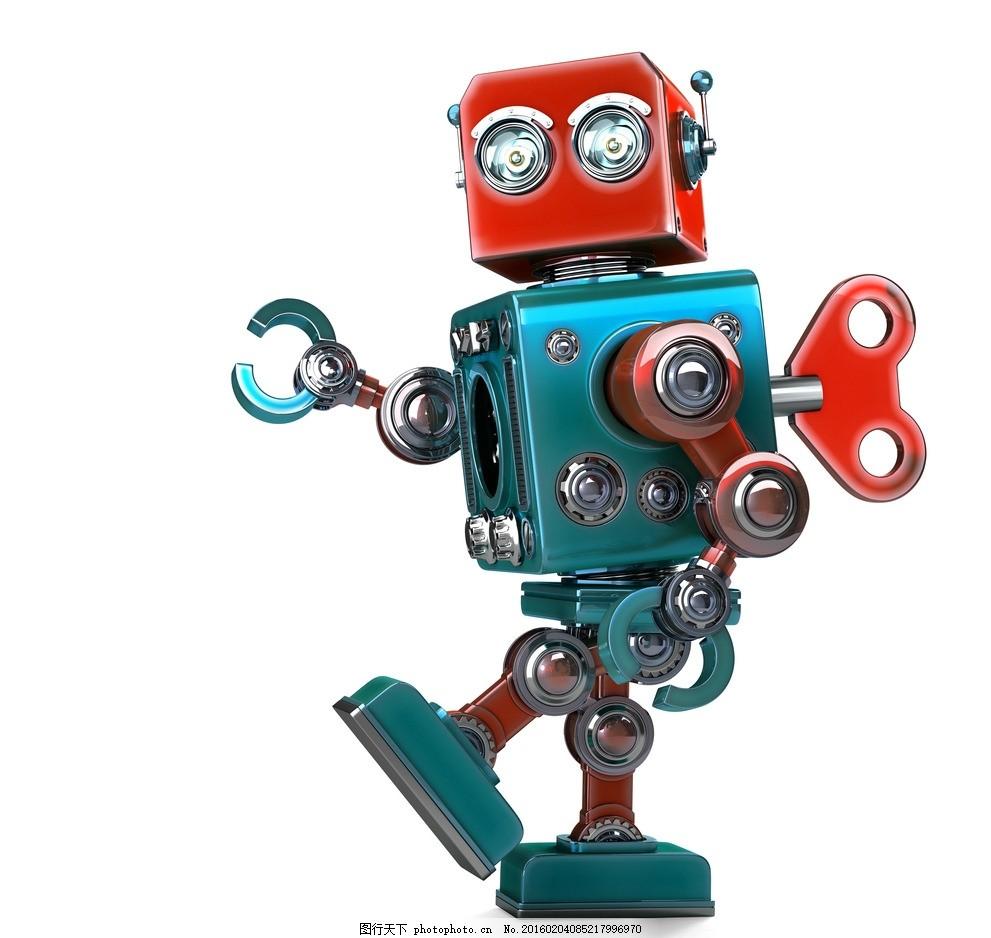 炫酷机器人唯美炫酷机器人机械3d高科技可爱彩色机器人设计图片