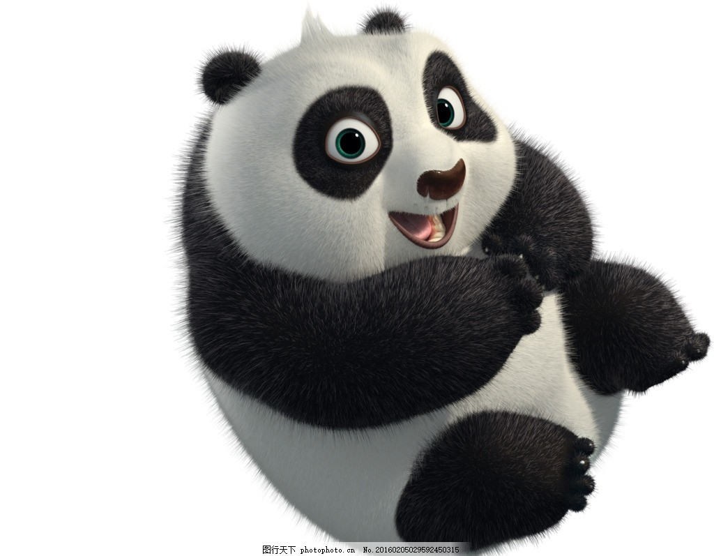 熊猫的刻纸图案