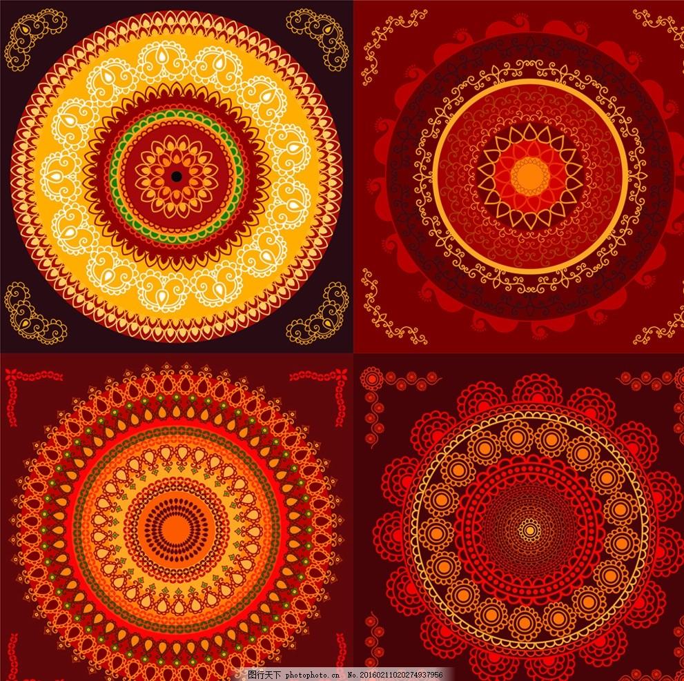 红火背景 红火 背景 红色 欧式 复古 设计 底纹边框 背景底纹 ai