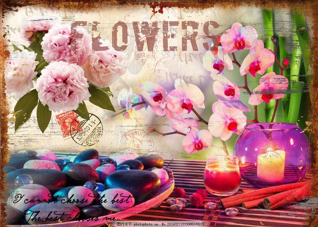 玄关 蝴蝶 电视背景墙 花卉装饰画 花型 邮票 花型图案 手绘花卉 手绘