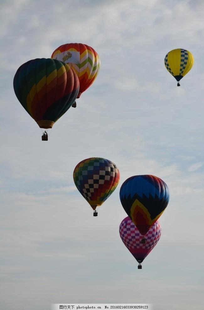 热气球 天空 彩色 壁纸 旅游 美图 摄影 人文景观