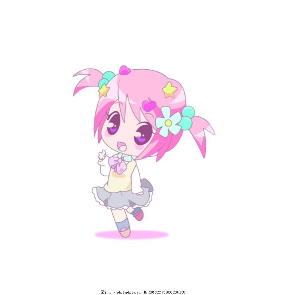 小萌妹子 卡通 可爱 的 小萌 妹子 动漫 漫画 彩色 人物 卡通类别