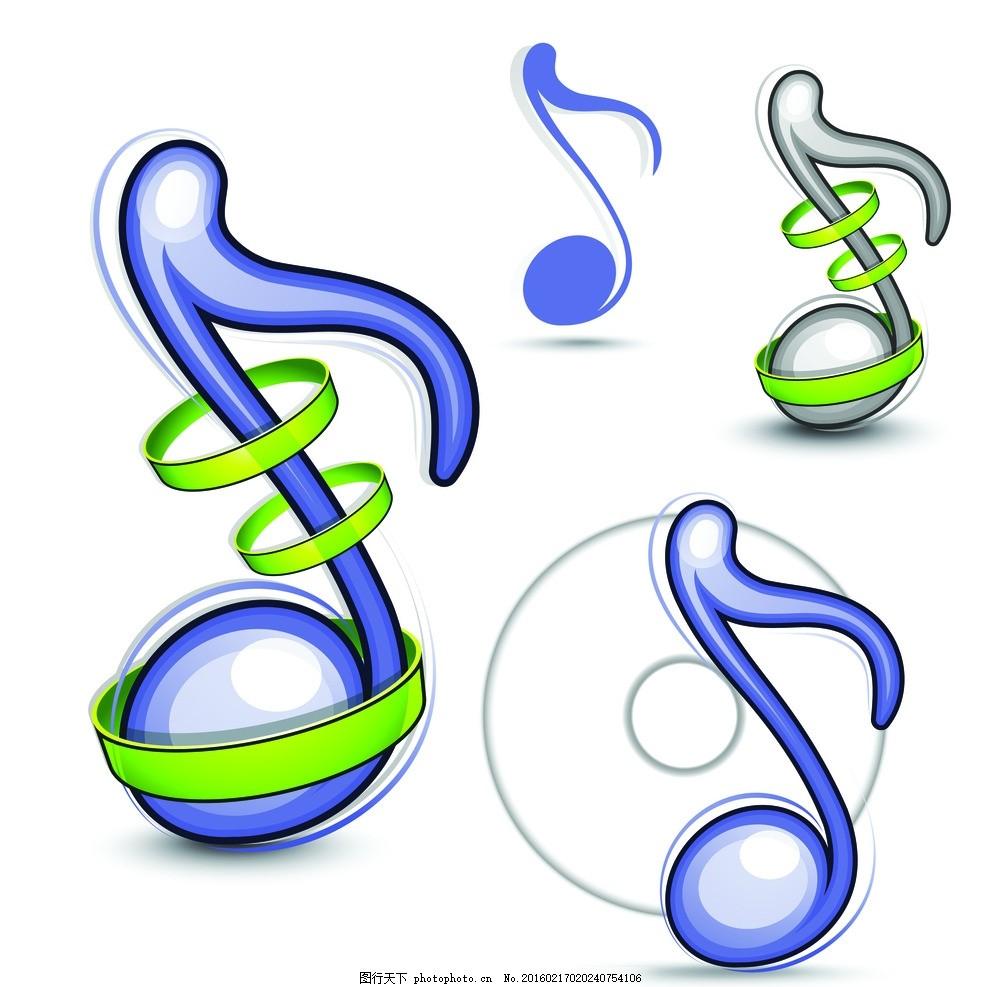音符 音乐 乐符 壁纸墙纸 移门图案 礼物包装纸 卡通动物 布纹印花