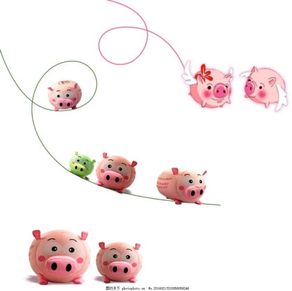 可爱卡通小猪素材