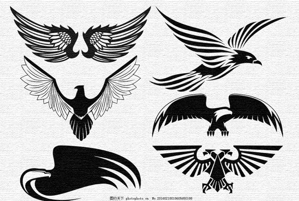 刺青图案 纹身 黑白 鹰 展翅 鸽子 抽象 动漫动画图片