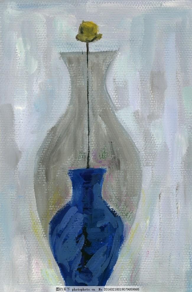 花瓶图案 无框画 装饰画 抽象画 油画 艺术画 现代画 家居画 简约画