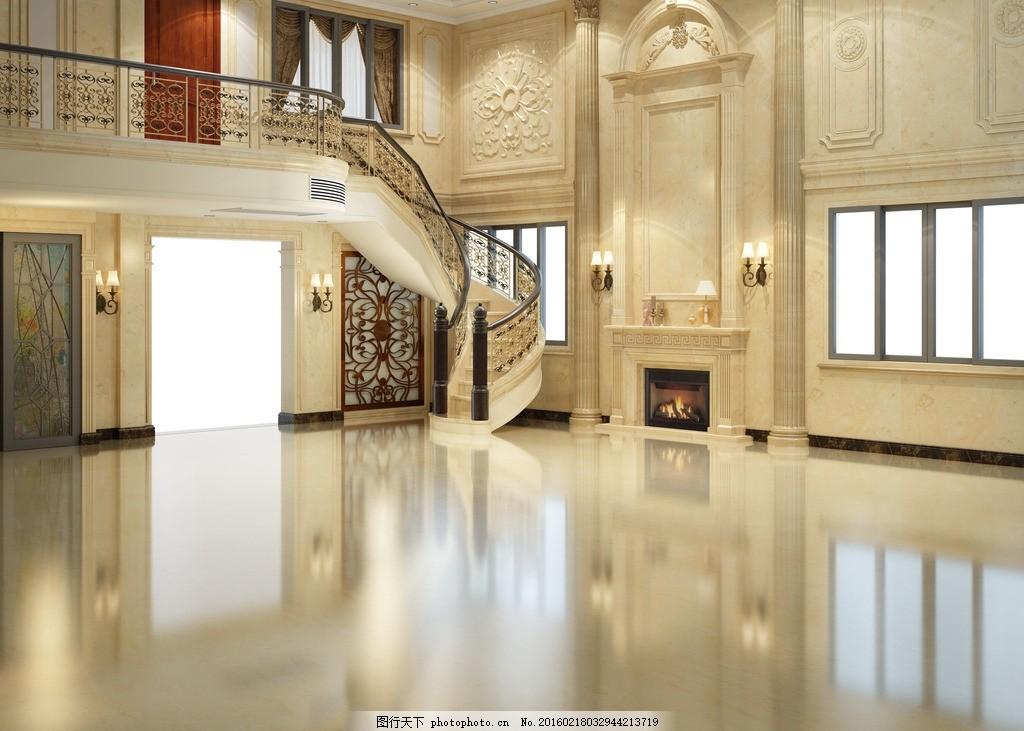 欧式背景墙(含图层路径) 欧式背景墙含图层路径 欧式客厅 楼梯