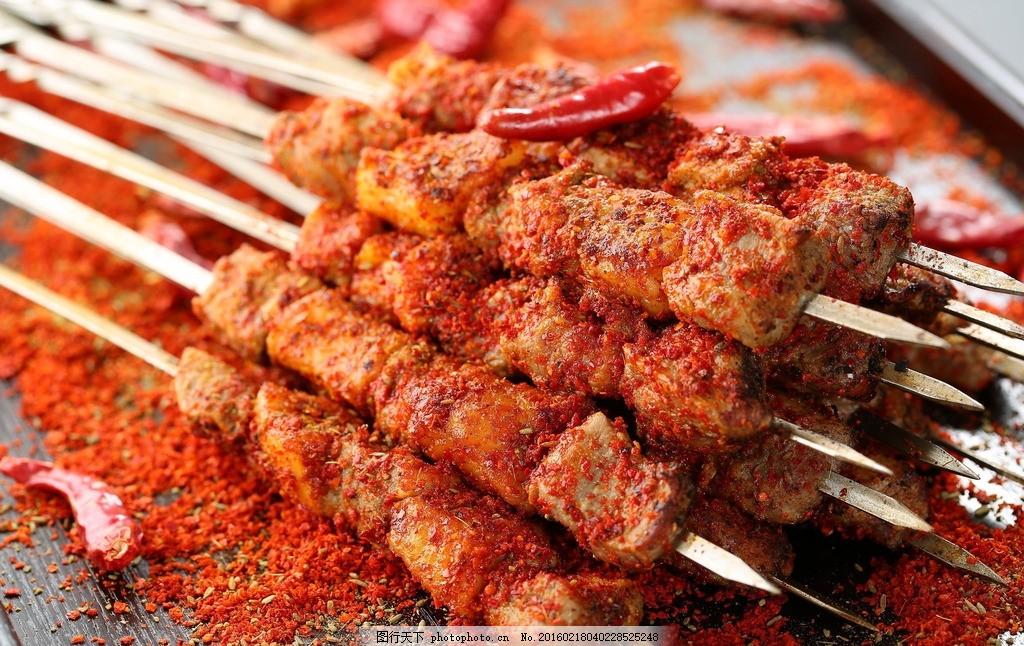 羊肉串 新疆羊肉串 羊肉大串 烤肉串 大排档 烧烤 美食 摄影