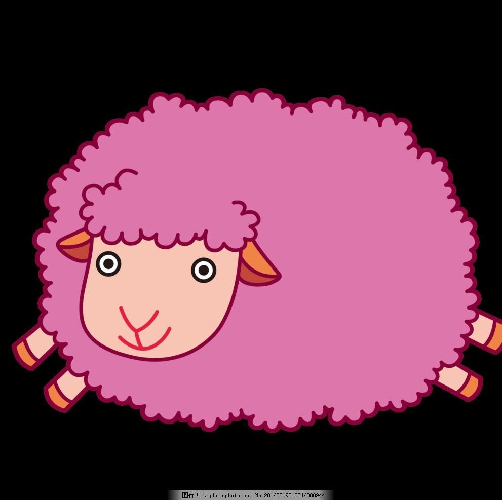 可爱 卡通 素材 海报 动物 黑色 动漫 美丽 童话 小绵羊 喜洋洋 设计