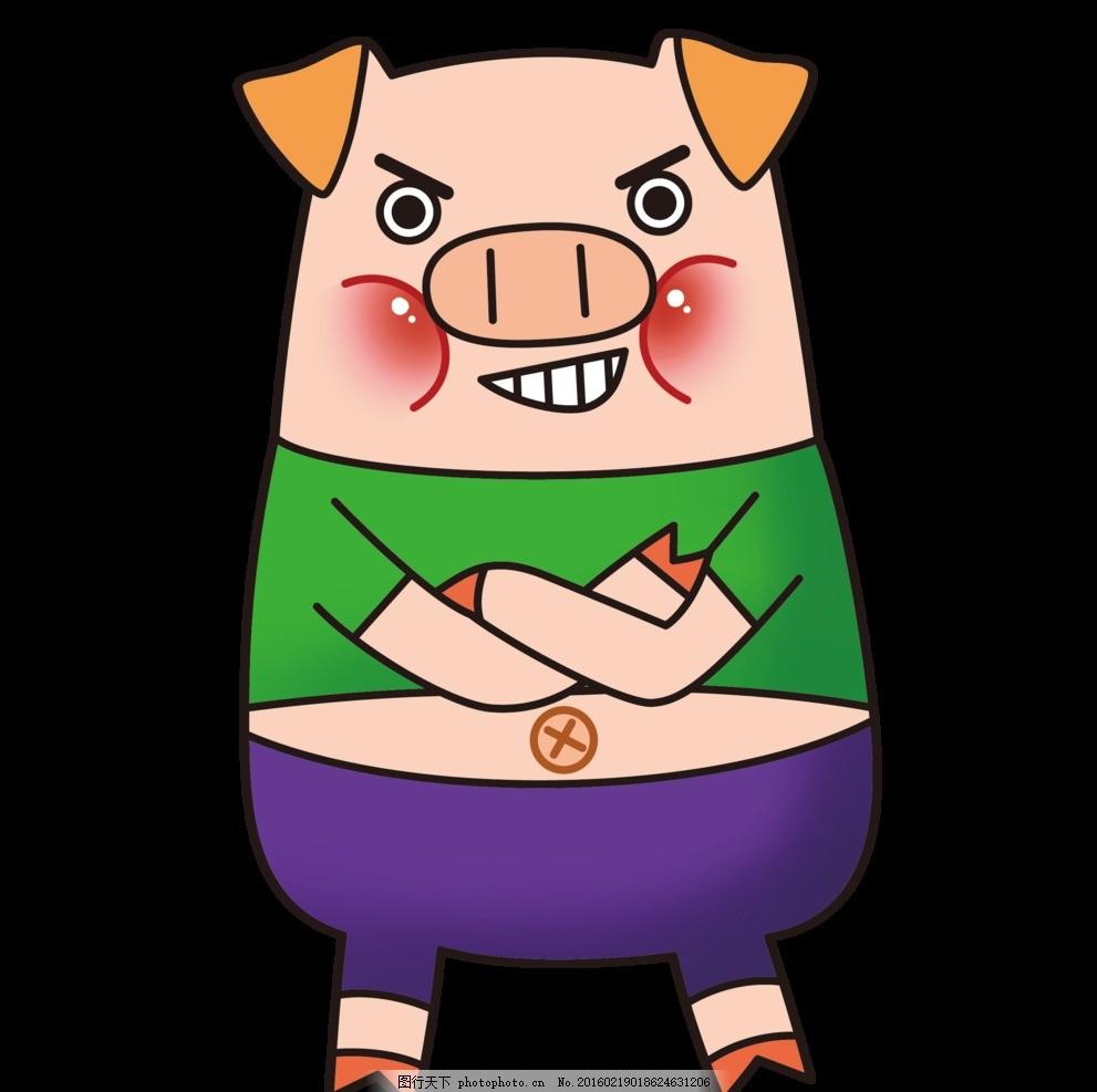 可爱 卡通 素材 海报 动物 黑色 动漫 美丽 童话 小猪 设计 动漫动画