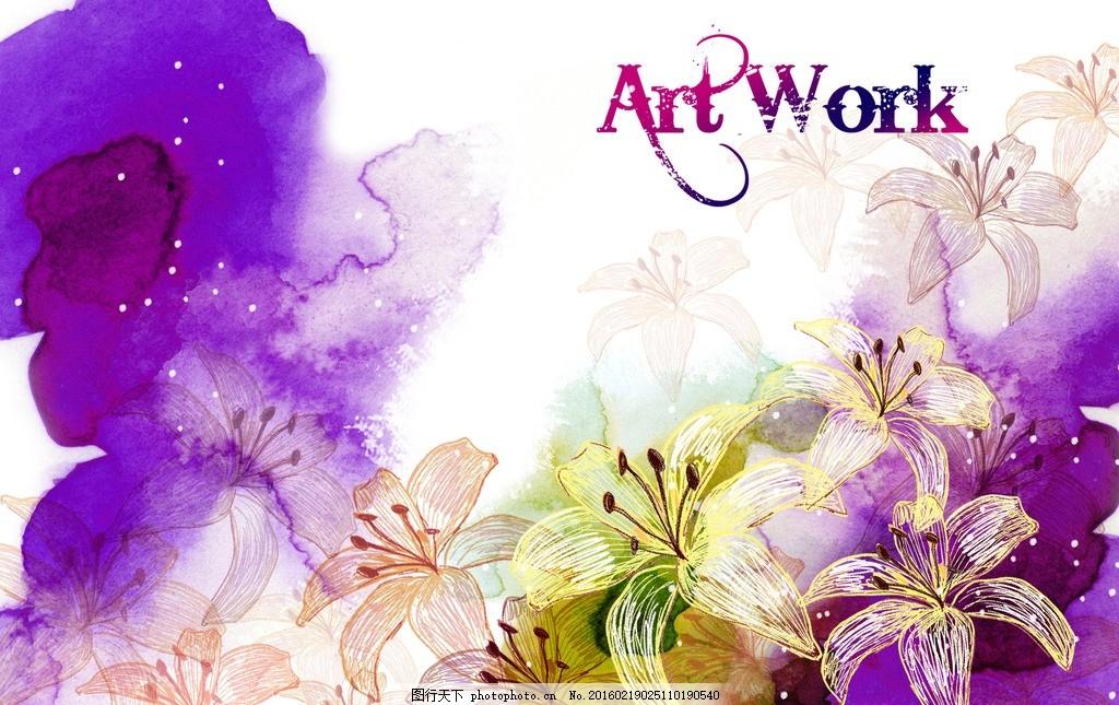 手绘花卉,牡丹花 花开富贵 中国画 水彩画 中国风-图