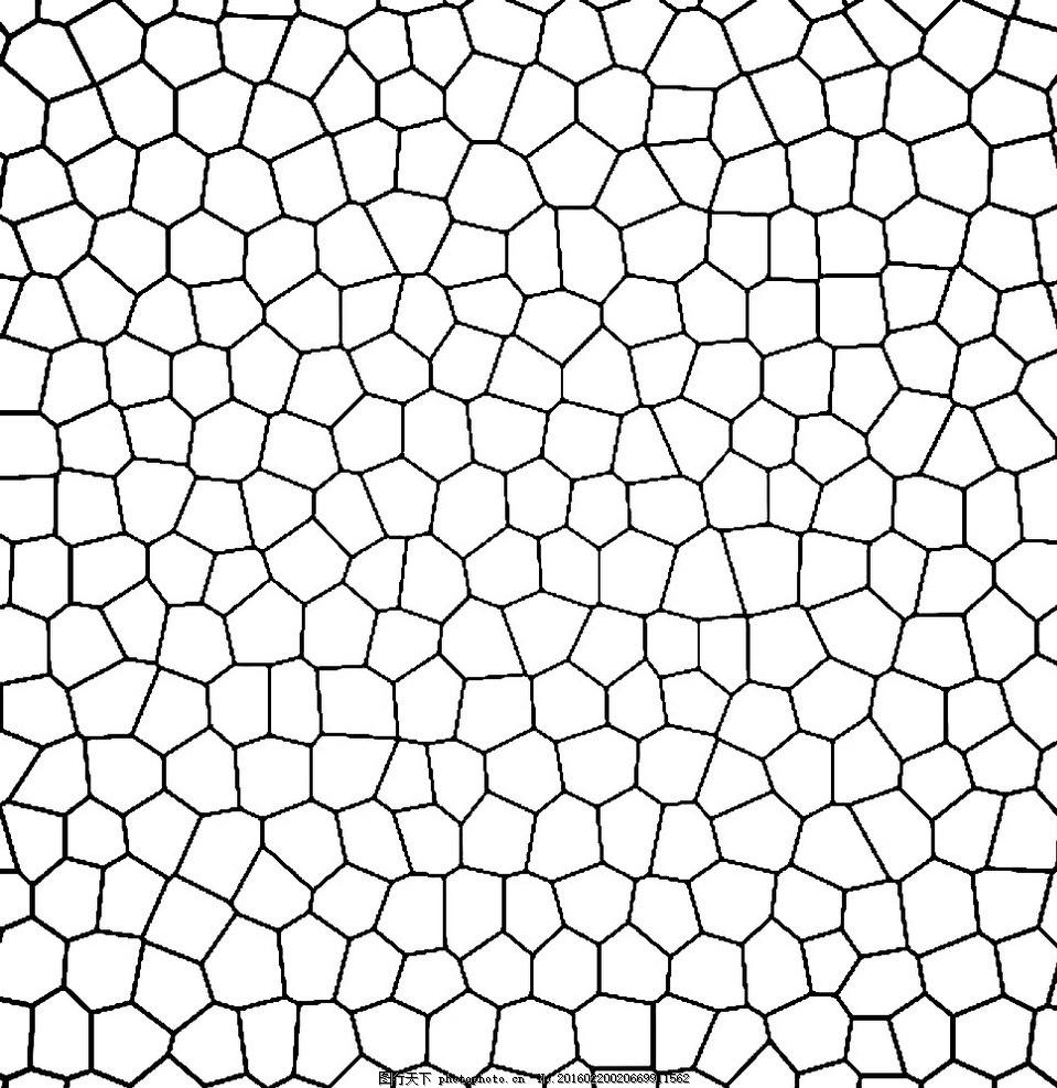 碎玻璃 拼接多边形 黑白纹理 条纹线条