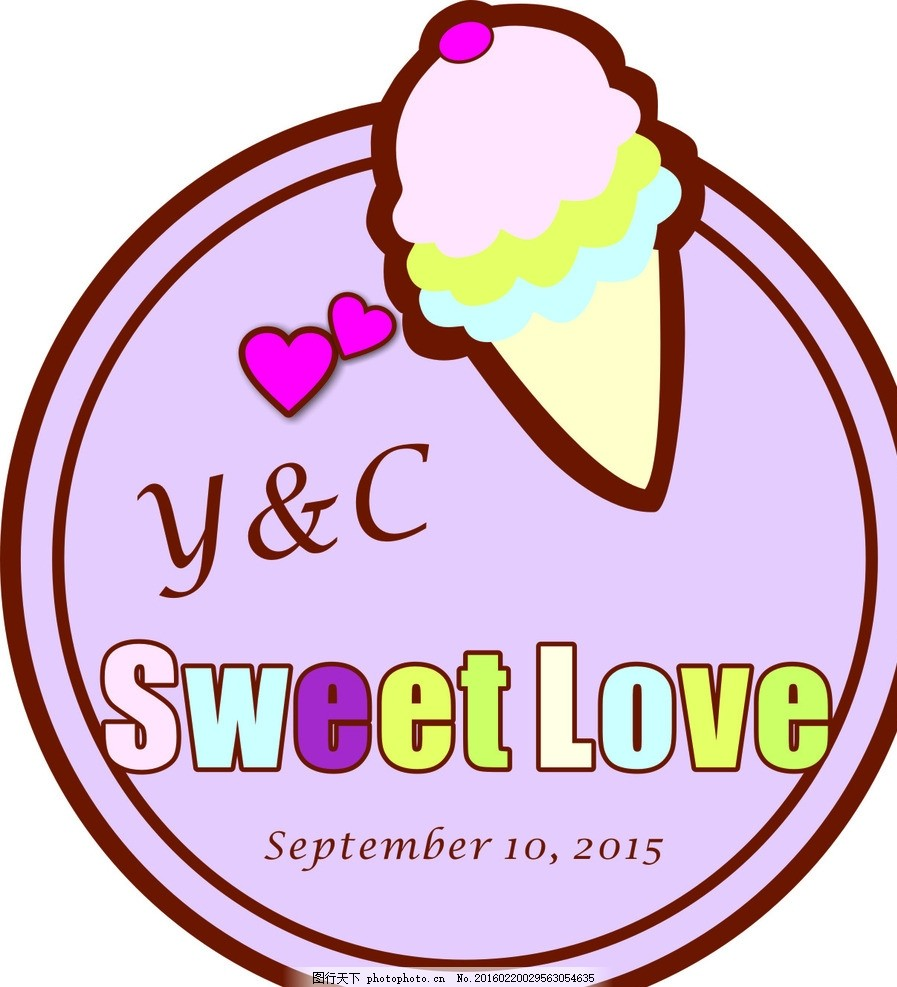 冰淇淋婚礼logo