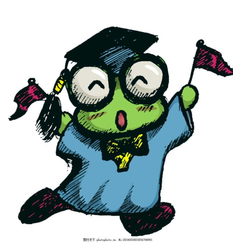 手绘卡通青蛙