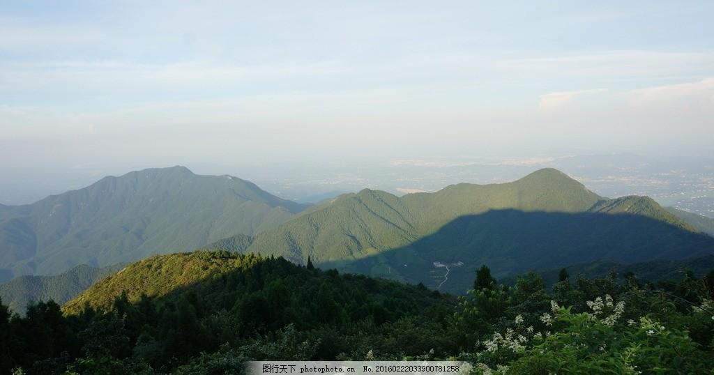 南岳衡山 山脉 山峰 高山 蓝天 树林 植被 寿岳衡山 衡山风光