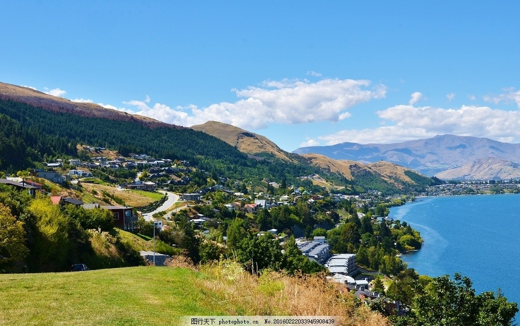 唯美 风景 风光 旅行 自然 欧洲 新西兰 皇后镇 山 摄影 旅游摄影