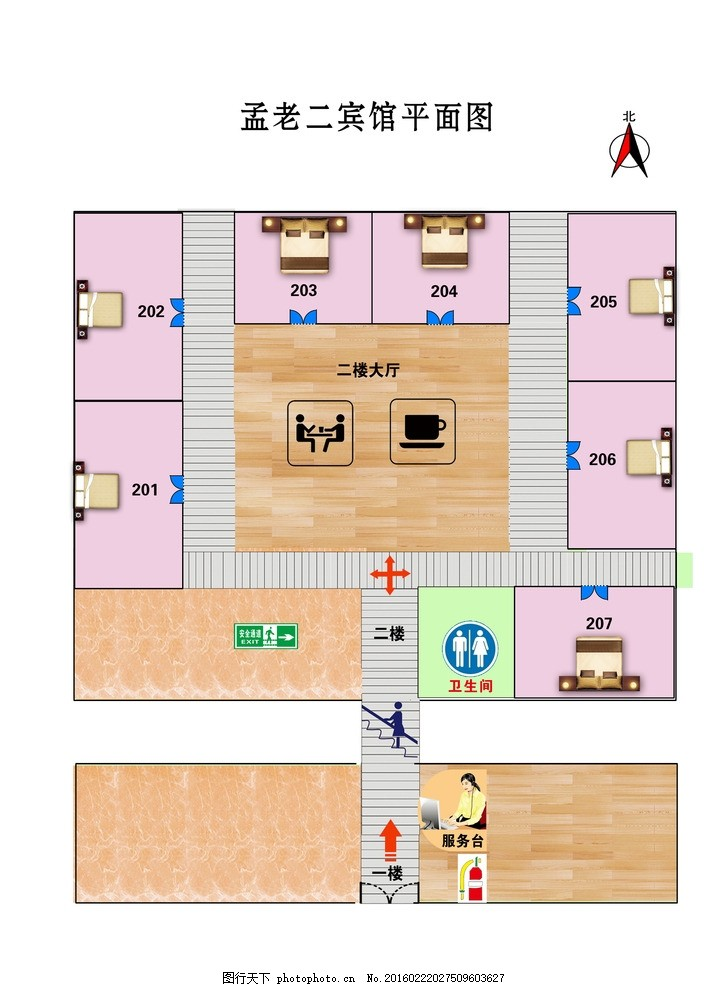 宾馆平面图 宾馆消防 宾馆床位