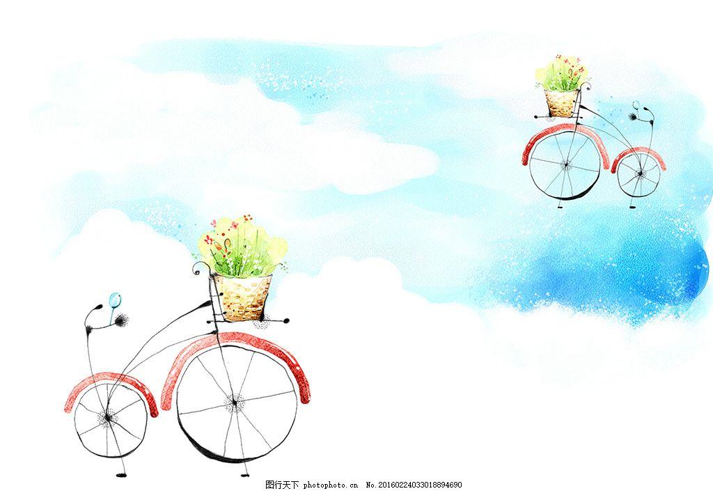 韩风卡通背景 花纹 手绘 背景底纹 儿童 儿童手绘 卡通画 儿童画