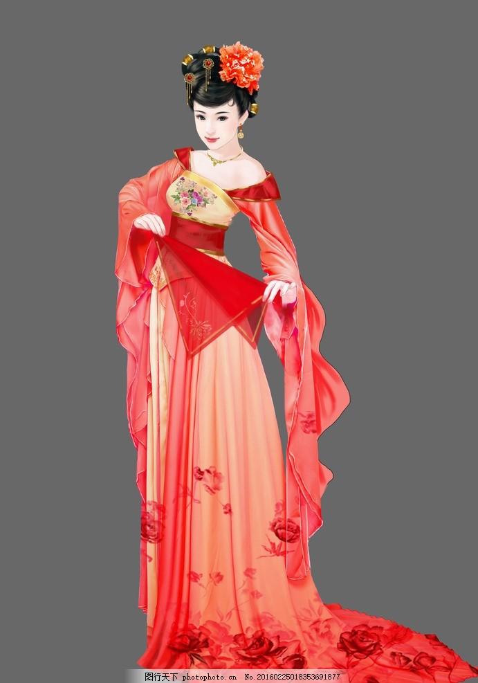 唐朝美女 唐朝 古典 美女 相册 婚纱 卡通 唯美 古装 婚庆 素材 设计