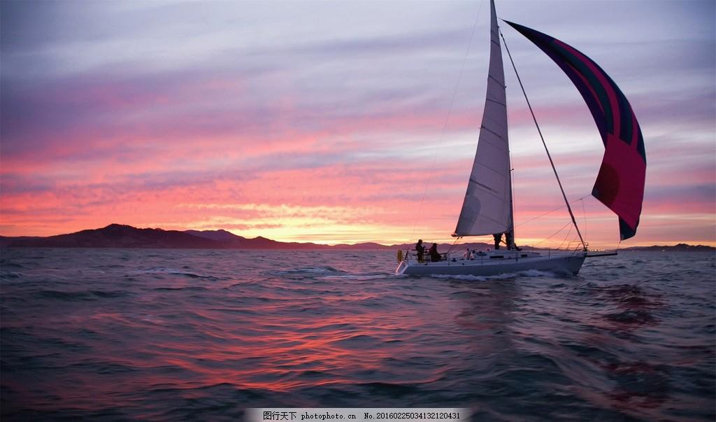 夕阳美景 夕阳下的帆船 夕阳下的帆船 夕阳 大海夕阳 孤帆远影 帆船