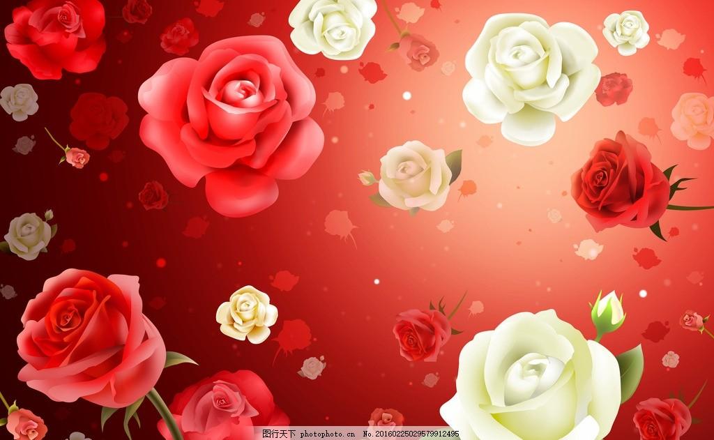 卡通玫瑰花