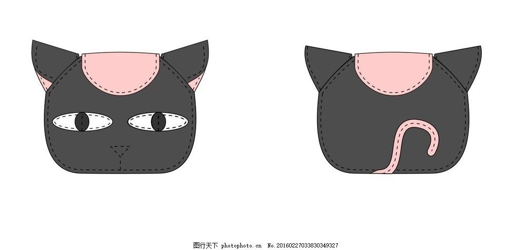 猫咪手缝效果 猫q版 简笔画 动物 宠物 设计 其他 图片素材 cdr
