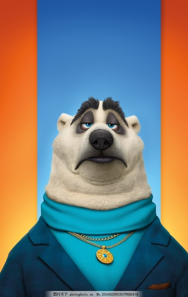 疯狂动物城 动物乌托邦 狗熊 熊 保镖 迪士尼 动画电影 walt disney