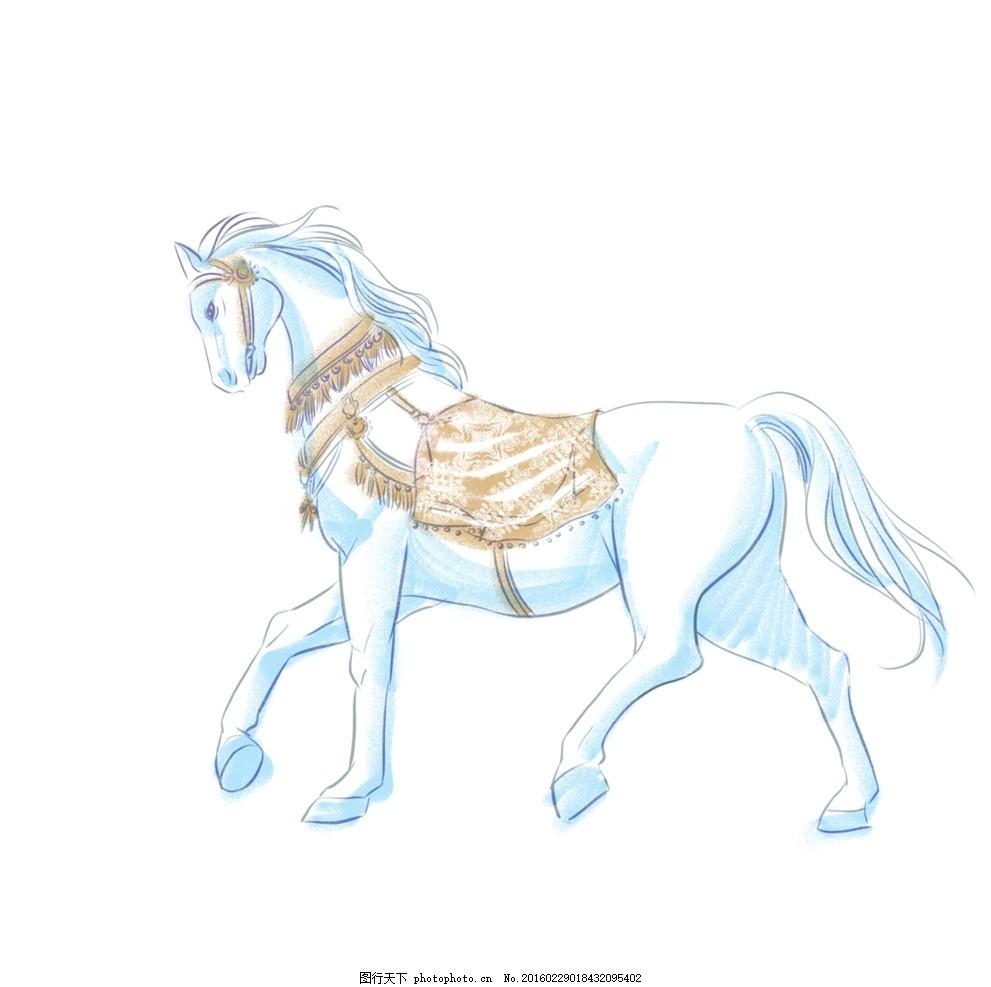 动画 动漫 可爱 动物 美丽 白马 白龙马 动漫动画