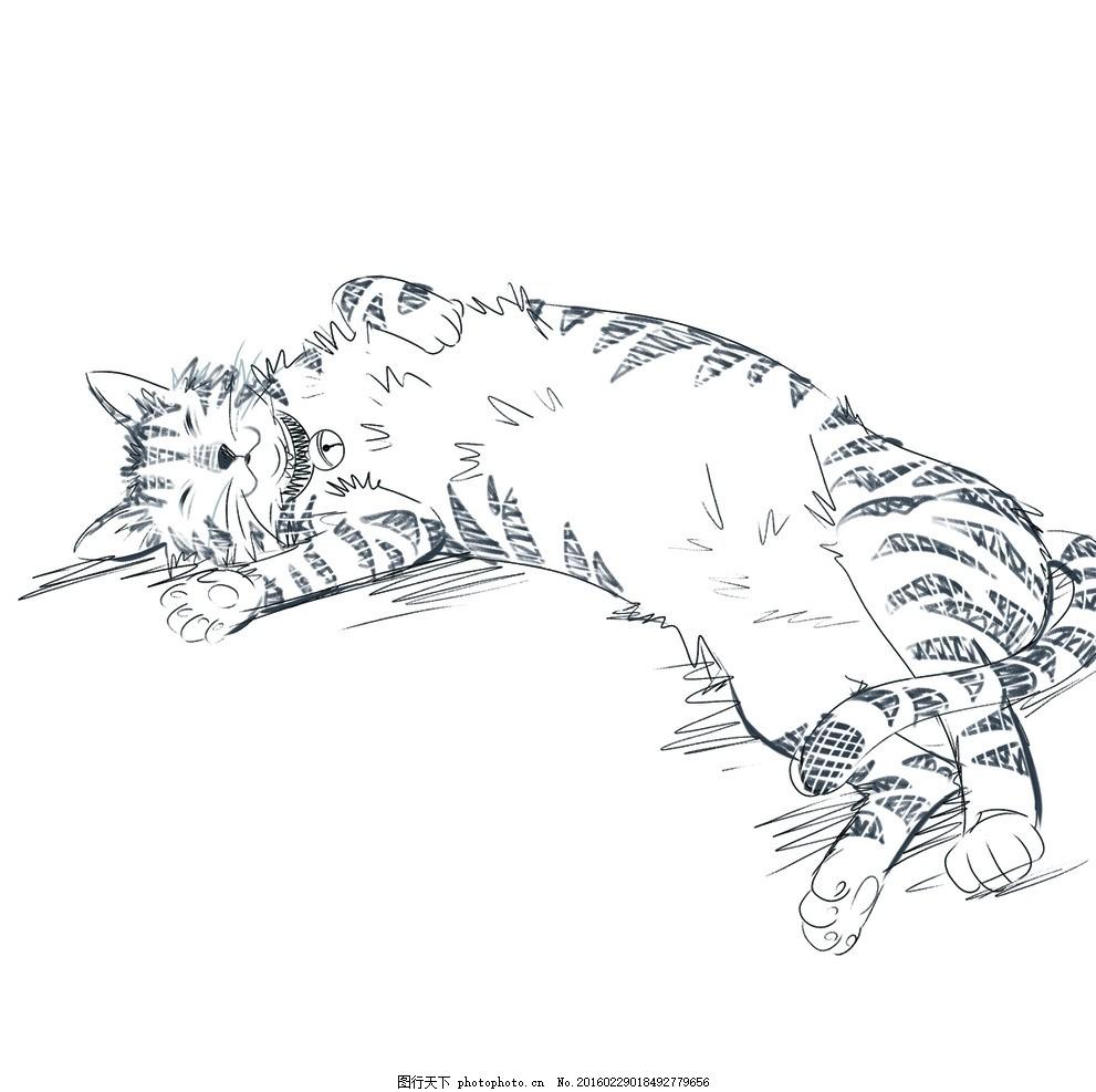 动画 动漫 可爱 动物 美丽 猫 加菲猫 蓝猫 懒猫 设计 动漫动画 风景