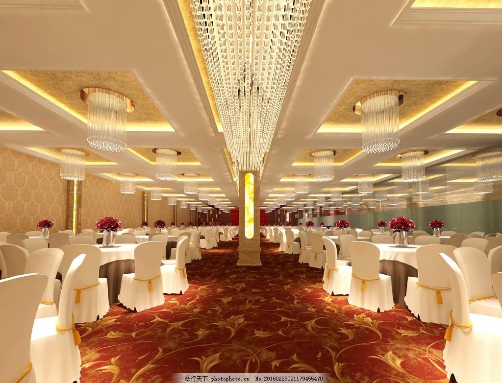 酒店 餐厅 酒店 餐厅 饭馆 大厅 婚宴 欧式大厅 欧式 设计 3d设计 3d