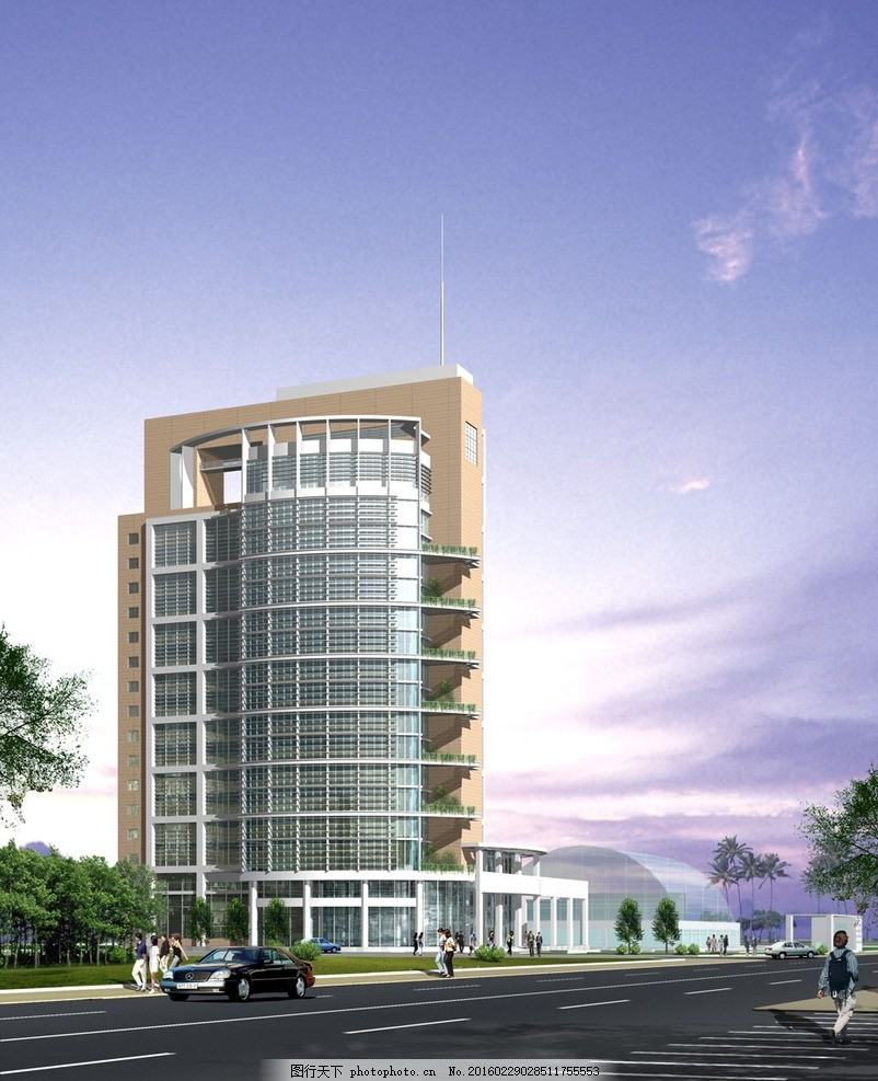 青海证券大楼 立面图 楼房 住宅 楼盘 小区 花园 广告设计 建筑效果图