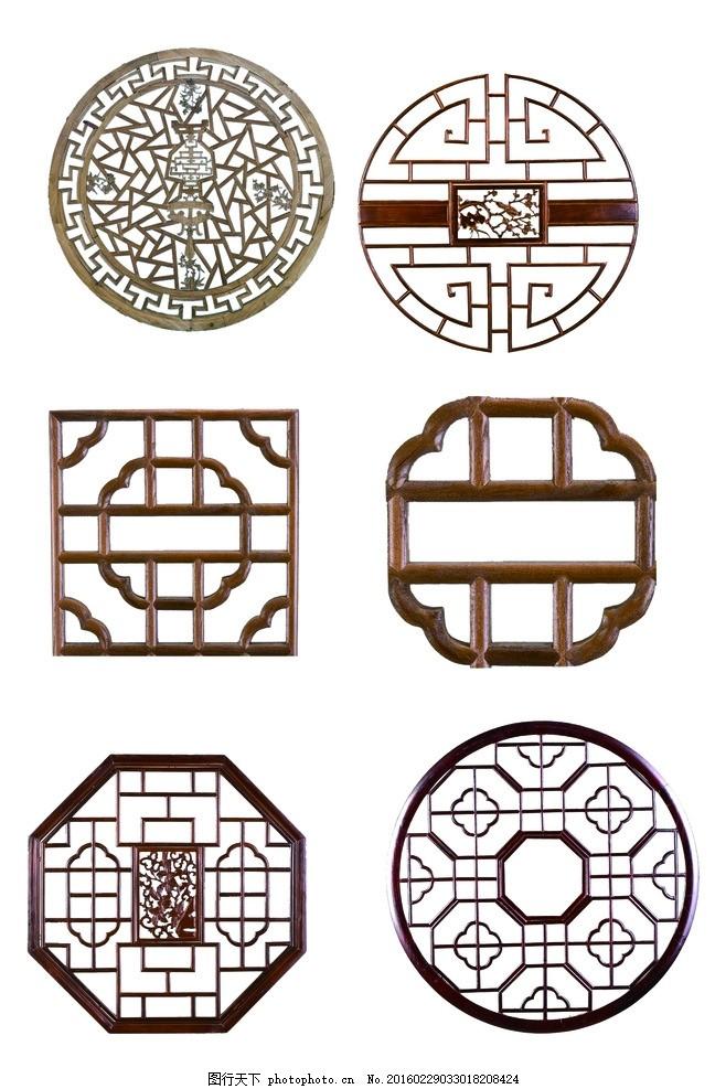 木雕窗格 木雕花格 方形 花纹 镂空花格 花纹隔断 雕花 图案 雕刻花纹