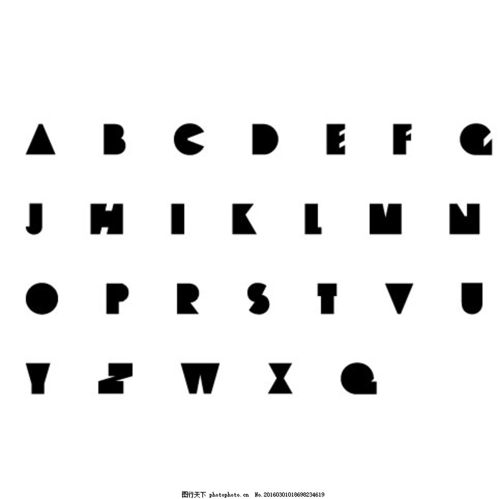 字母 矢量 大写 大写字母 抽象字母 可爱字母 创意 创意字母