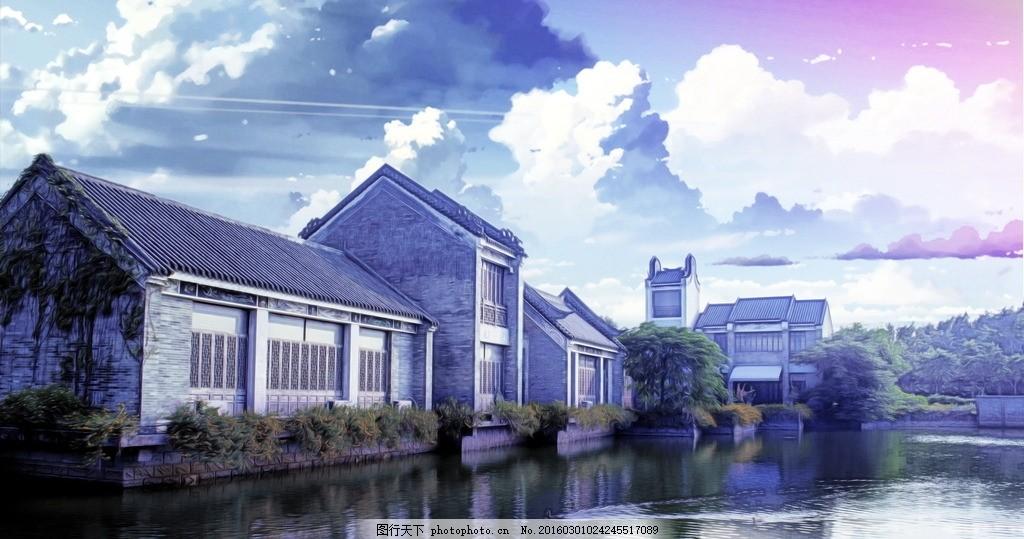 洋房 中国风 房屋 房子 建筑 梦幻 古风 唯美建筑 古老 建筑物 古风风