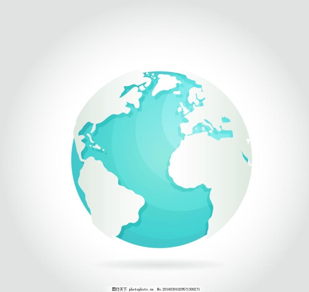 地球 蓝色地球 家园 环保 地球模型 设计 广告设计 广告设计 ai