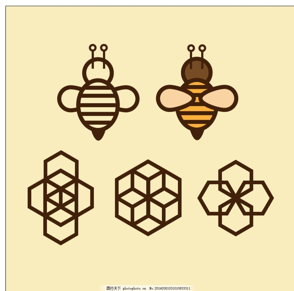 几何图标蜜蜂