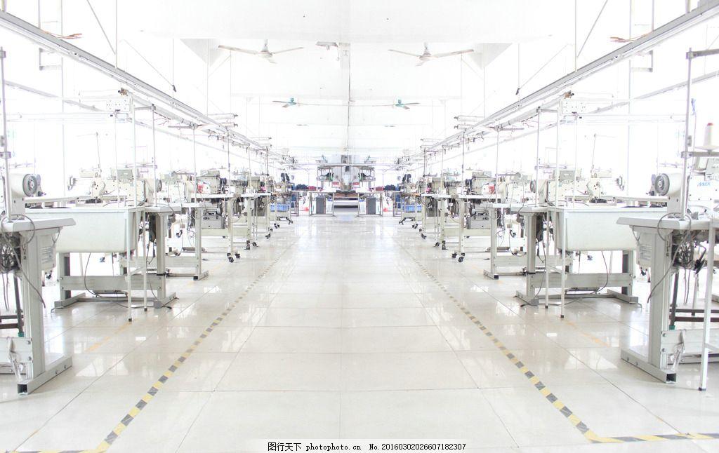 服装厂车间 服装 车间 服装厂 车间工厂 车间机器 摄影 现代科技 工业