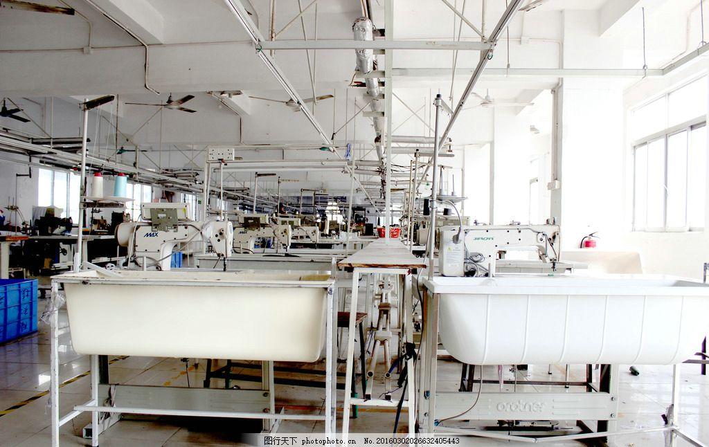 服装厂设备 服装 车间 服装厂 车间工厂 车间机器 摄影 现代科技 工业