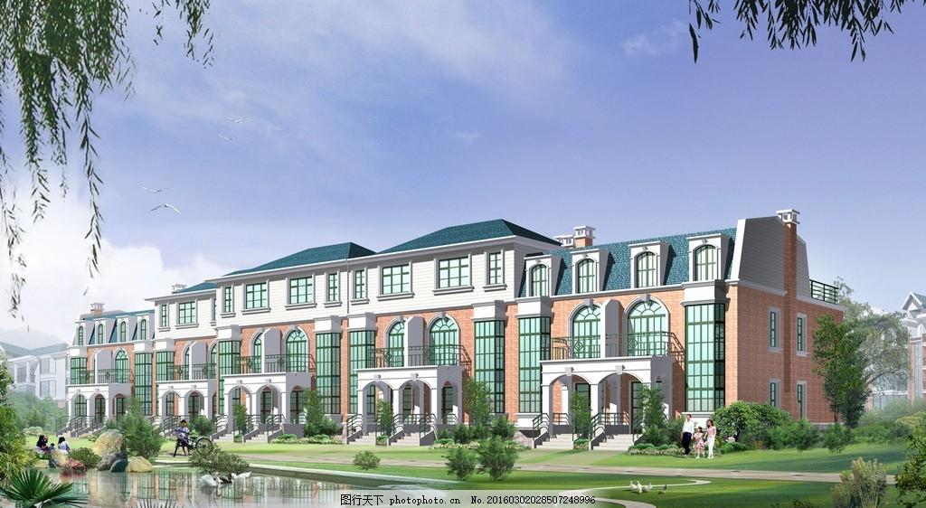 中建办公楼 立面图 楼房 住宅 楼盘 小区 花园 广告设计 建筑效果图