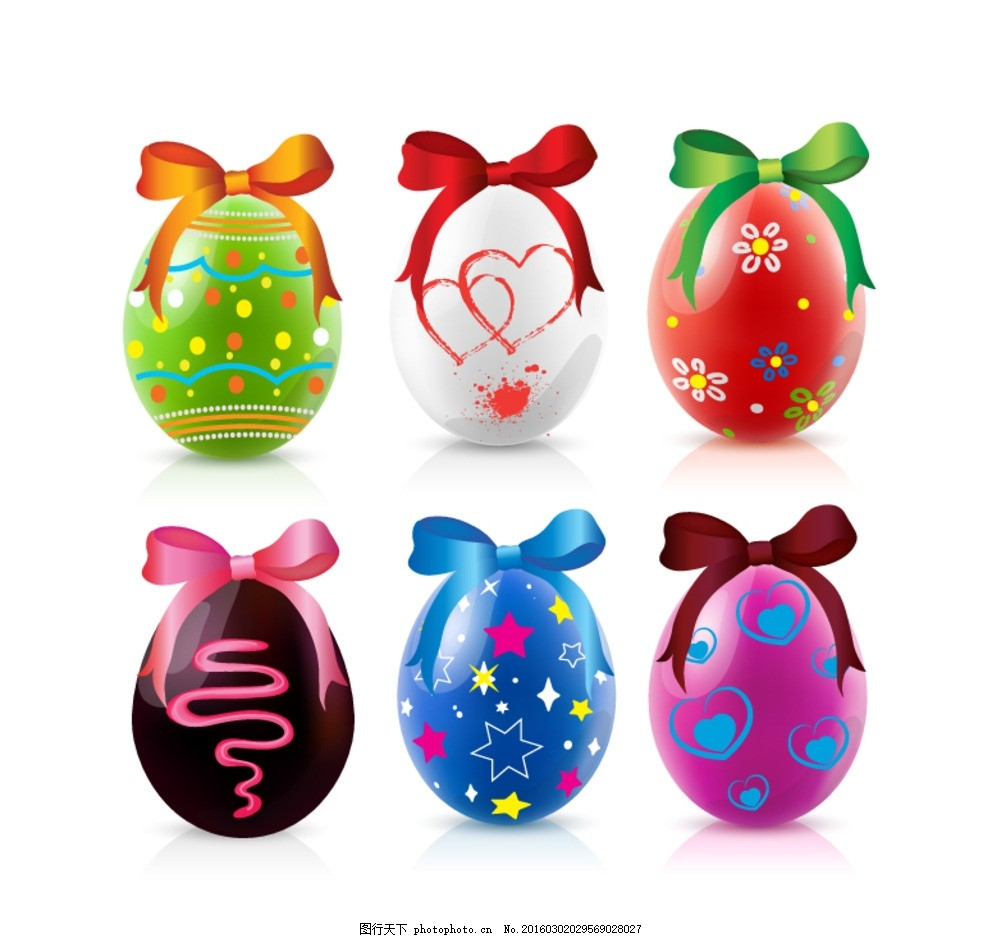 彩蛋 手绘彩蛋 花纹 卡通彩蛋 矢量素材 贴纸 手绘矢量图 红色