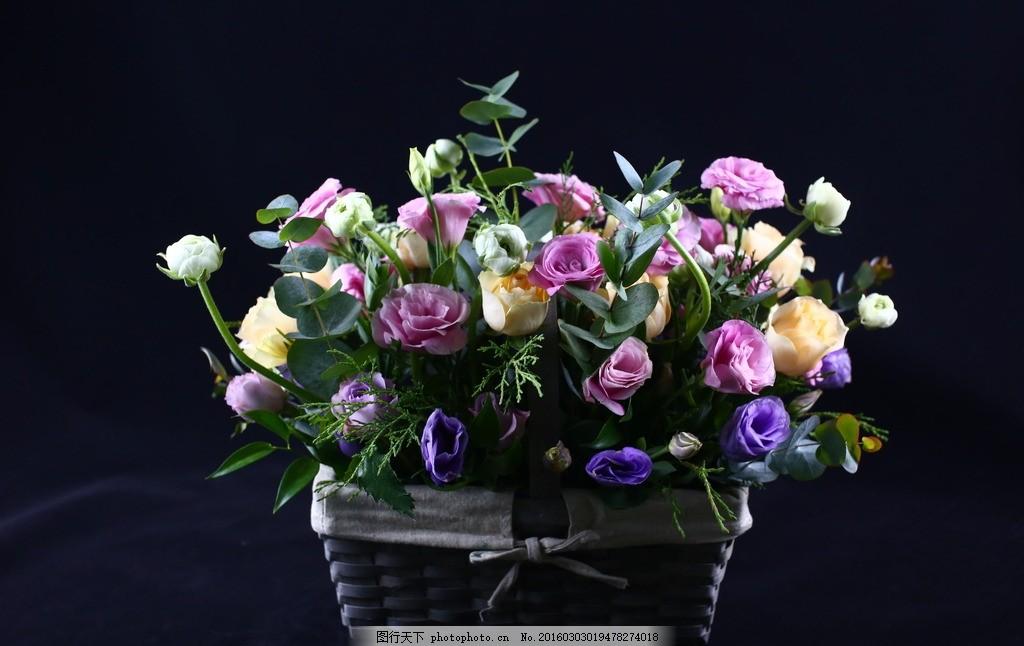 篱笆鲜花花盒 花篮 插花 艺术 高档 摄影 生物世界 花草 鲜花艺术