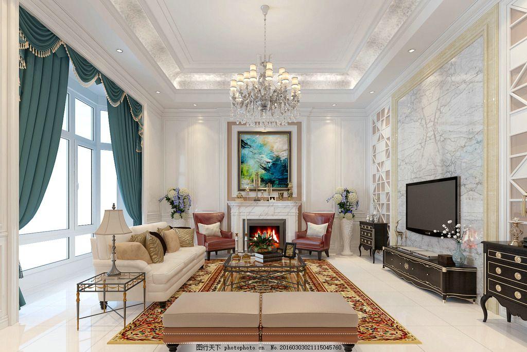别墅客厅设计 室内设计 装修图纸 家装