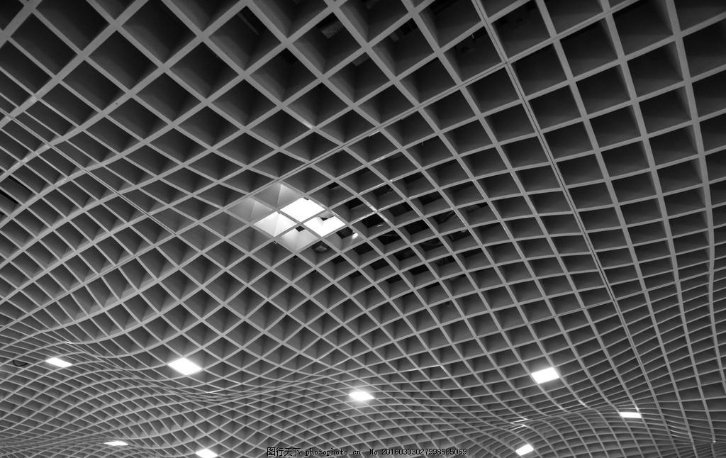 室内设计 室内结构 建筑结构 顶棚 方格 波浪 流线 线条 点线面